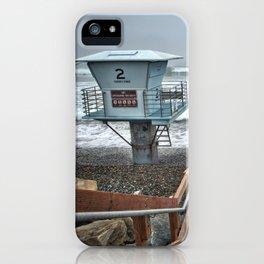 Lifeguard Tower 2, Torrey Pines, La Jolla, California iPhone Case