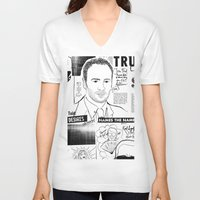 scandal V-neck T-shirts featuring Tom Ford Scandal by CLSNYC