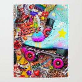 Super Retro Roller Skate Night Poster