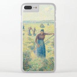 Camille Pissarro - La Recolte des Foins, Eragny, 1887 Clear iPhone Case