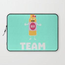 Team Bride Beerbottle B5s42 Laptop Sleeve