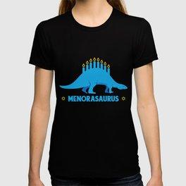 Menorasaurus Jewish Dinosaur, Funny Happy Hanukkah T-shirt