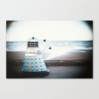dalek Canvas Prints featuring Dalek by I Am Lee Jones