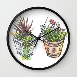 Plants. Wall Clock