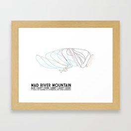 Mad River Mountain, OH - Minimalist Trail Art Framed Art Print