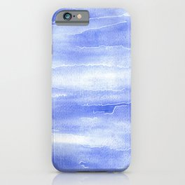 Abstract Aquarelle in blue iPhone Case
