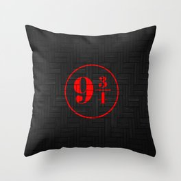 platfrom on the wall Throw Pillow