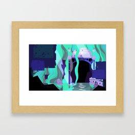 Moon Temple Framed Art Print
