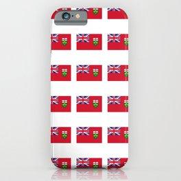 Flag of ontario -ontarian,ontarien,toronto,ottawa,heartland,huron,hamilton. iPhone Case