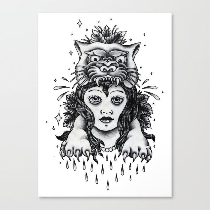 Chica tigre Canvas Print