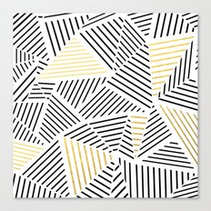 A Linear White Gold New Canvas Print