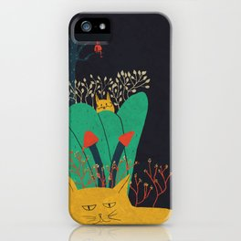 Gato y cactus iPhone Case