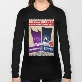 Optimus Prime vs Megatron Fight Poster Long Sleeve T-shirt