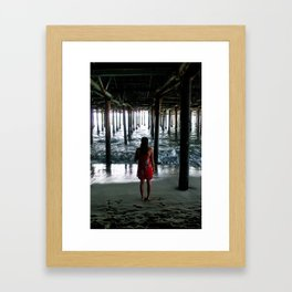 Piering Out Framed Art Print