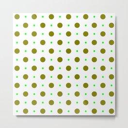 new polka dot 88 green Metal Print