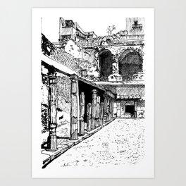 Herculaneum Courtyard Art Print