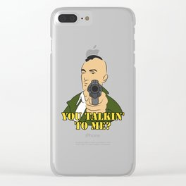 you talkin to me Clear iPhone Case