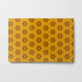 Yellow Flower Chain Pattern Metal Print