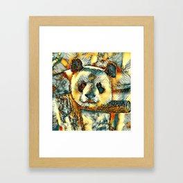 AnimalArt_Panda_20180101_by_JAMColors Framed Art Print