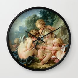 "François Boucher ""Cupids in Conspiracy"" Wall Clock"