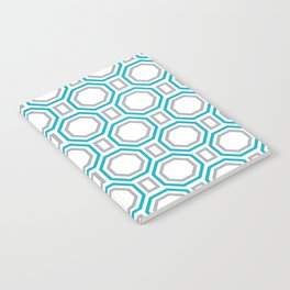 Polygonal pattern - Turquoise blue and Gray Notebook