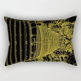 Apollo Rocket Booster - Yellow Neon Rectangular Pillow