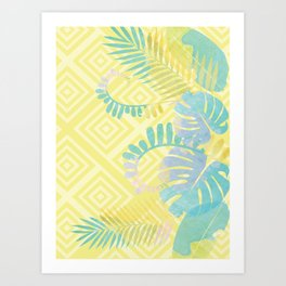 Tropical Yellow Art Print