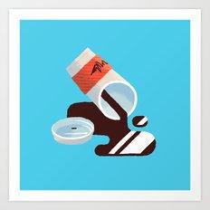 Spilled Coffee Art Print