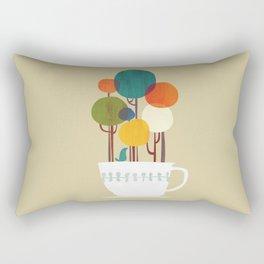 Life in a cup Rectangular Pillow
