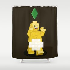 I want to brick free ! Shower Curtain