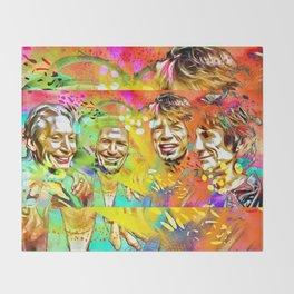 The Stones Pop Art Painting Throw Blanket