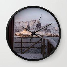 Morning in Lofoten Wall Clock