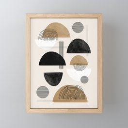 Paper Collage Art Framed Mini Art Print