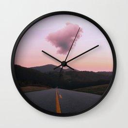 Road Red Cloud Wall Clock