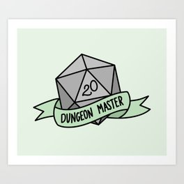 Dungeon Master D20 Art Print