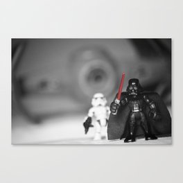 Darth Vader & Stormtrooper with tyfighter Canvas Print