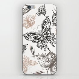 Butterfly design classic elegant graphic design iPhone Skin