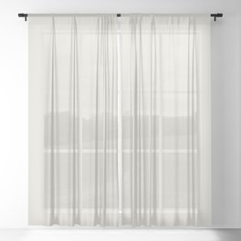 Neutral Off-white - Cream - Ivory Solid Color Parable to Valspar Snowy Dusk 7002-3 Sheer Curtain