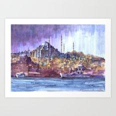 Eminönü Skyline Art Print