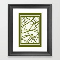Bamboo Border DPA160608s Framed Art Print