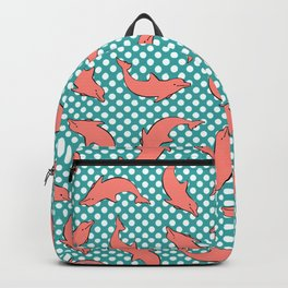 dolphin pattern Backpack