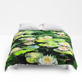 Eight Waterlilies Comforters