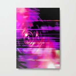 Purple music speakers Metal Print