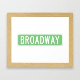 Broadway Sign Framed Art Print