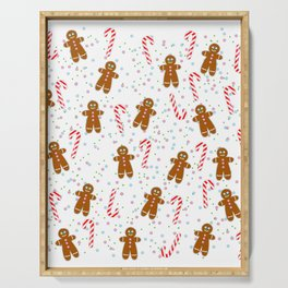 Gingerbread man wishes you Merry Xmas! - White Serving Tray