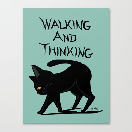 Walking and thinking Canvas Print