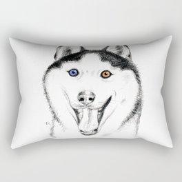 Smiling Husky Rectangular Pillow