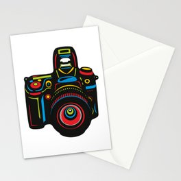 Black Camera Stationery Cards