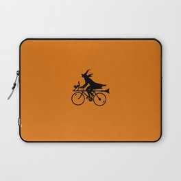 Witch on a Bicycle Laptop Sleeve