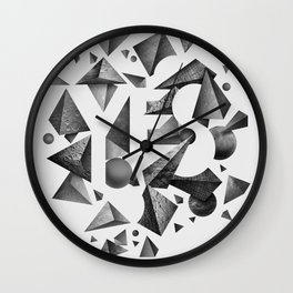 Not So Negative Space - White Wall Clock